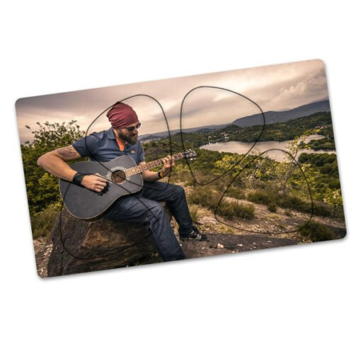 Card Guitar Picks - 4pcs - One Side
