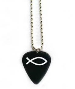 Guitar Pick - Silver Necklace