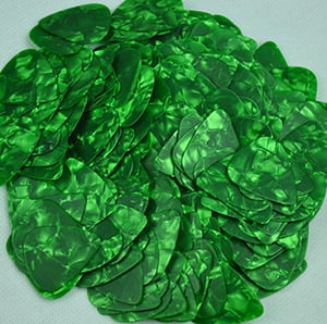 Custom Vintage Guitar Picks - Green
