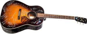 Rare signed guitar