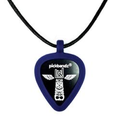 Guitar Pick - Pickbandz necklace Blue