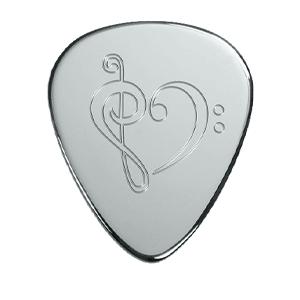 Silver Pick - Music Heart