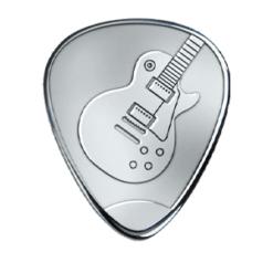 Silver Pick - Les Paul